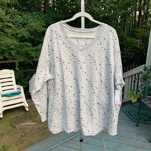 NWT Sonoma gray sweatshirt with stars
